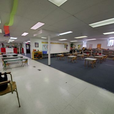 Interior view of a big classroom